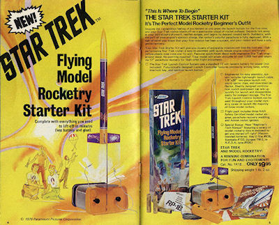 Star Trek - Flying Model Rocketry Starter Kit 1976